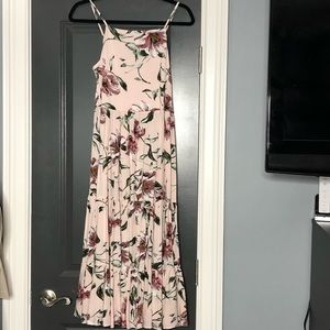 NWT Xhilaration Pink Floral Dress W/ Tie B…